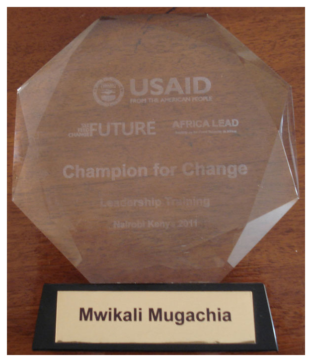USAID Champions for Change Award 2011 - Dr. Mwikali